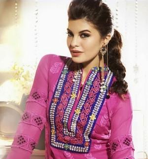 Jacqueline Fernandez In Designer Anarkali Suits 3
