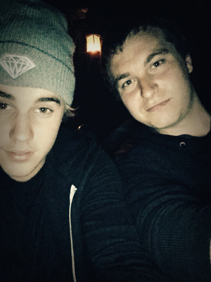 Jared Marion and Justin Bieber