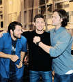Jense, Jared and Misha - jensen-ackles photo