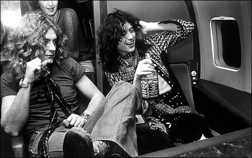 Led Zeppelin wallpaper possibly containing a street, a drawing room, and a diner entitled Jimmy page and Robert Plant