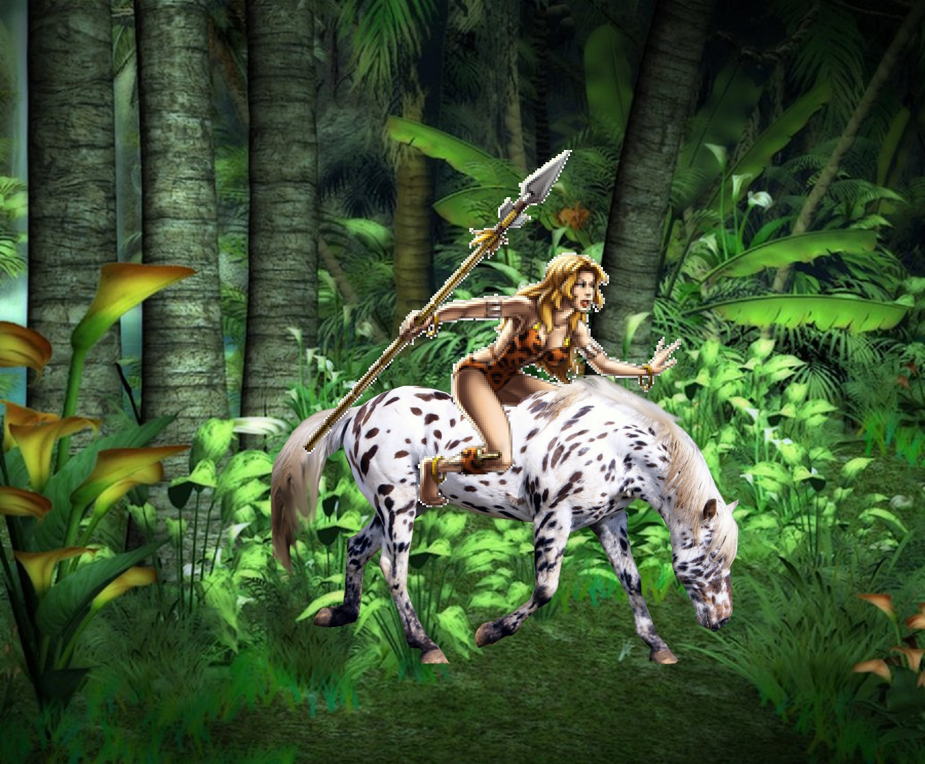jungle girls images jungle girl shanna rides on her horse