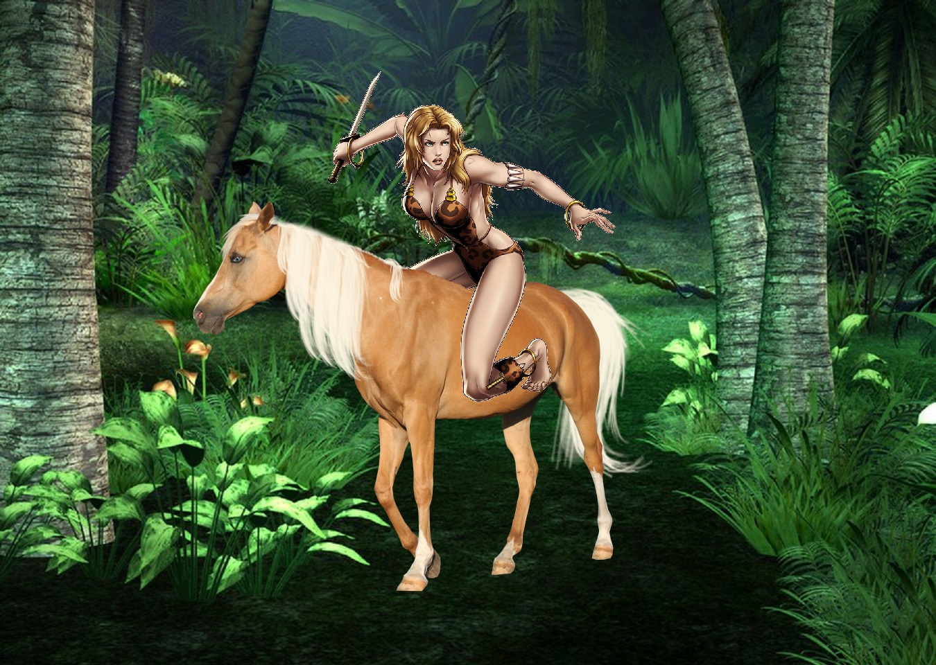 jungle girls images jungle girl shanna riding her
