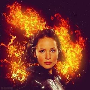 "Katniss ""the girl on fire"""