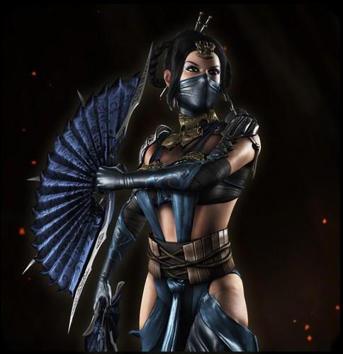 Mortal Kombat kertas dinding with a gasmask titled Kitana: Edenian Princess/Princess of Edenia