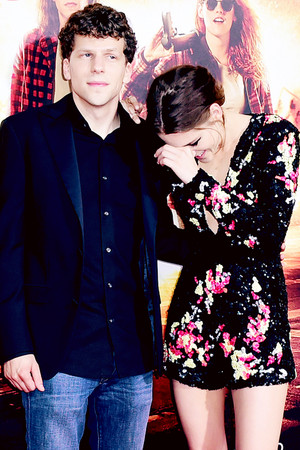 Kristen and Jesse Eisenberg,American Ultra premiere
