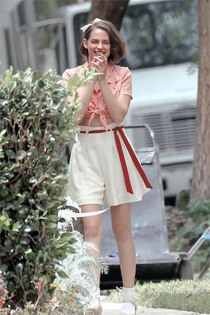 Kristen on set of new Woody Allen movie
