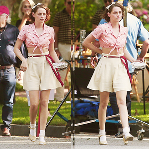Kristen on set of new Woody Allen movie