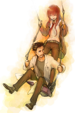 Kurisu and Okabe