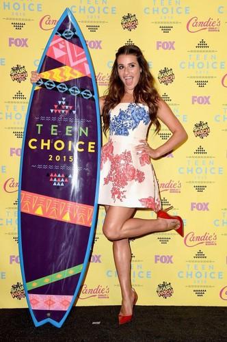 Lea Michele karatasi la kupamba ukuta titled Lea Michele 2015 Teen Choice Awards