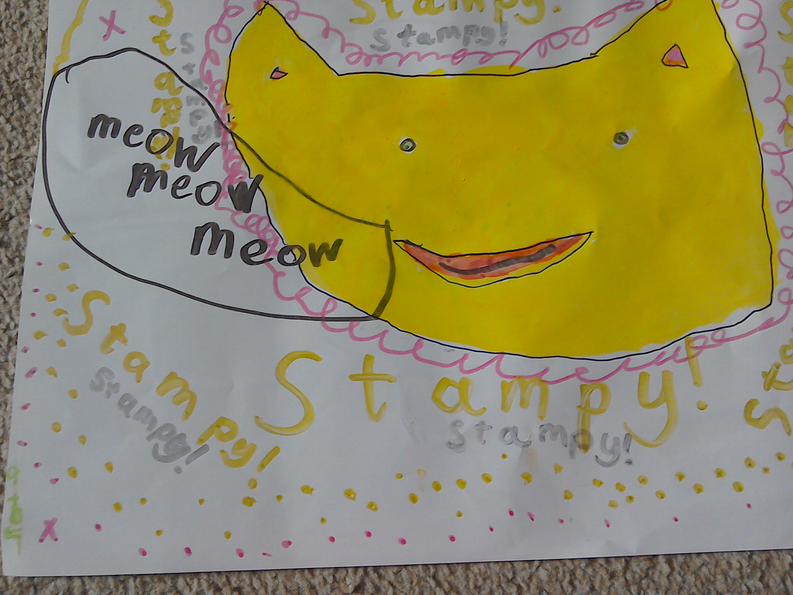 Lexie's drawing of Stampy