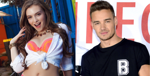 Liam Payne wallpaper with a portrait entitled Liam Payne and Mandy Kay