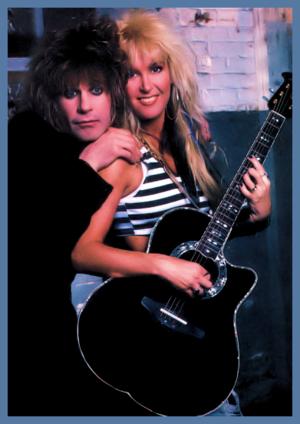 Lita Ford with Ozzy Osbourne