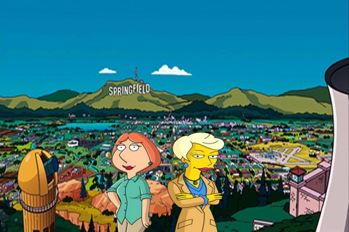 The Simpsons Vs Family Guy wolpeyper containing anime called Lois Griffin