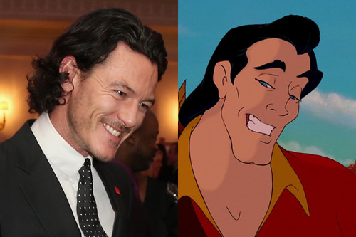 "Beauty and the Beast (2017) wallpaper with a business suit and Anime called Luke Evans ""Gaston"""