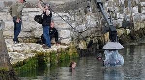 Maisie Williams filming Game of Thrones season 6