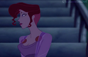 Megara with short hair