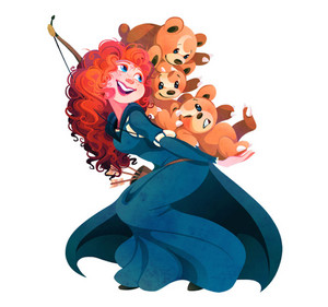 Merida and Teddiursa