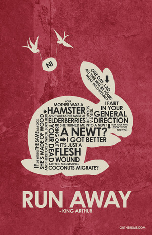 Monty ular sawa, python and the Holy Grail Quote Poster