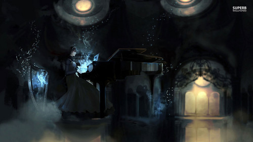 Piano wallpaper titled Mystical Pianist