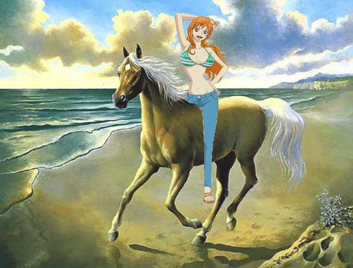 Nami Riding On Her Beautiful Palomino Horse Nami Fan Art 38792893 Fanpop