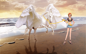 Nami tamed an Beautiful Pegasus