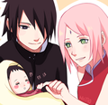 Newborn Sarada - sasusaku fan art