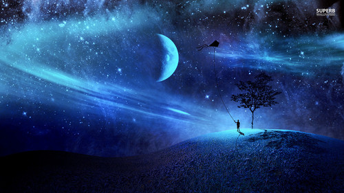 Fantasy Hintergrund entitled Night Sky