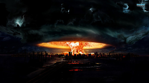 Science News kertas dinding containing a sunset titled Nuclear Explosion