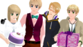 Oliver's Wish game maker's birthday and Oliver, Alfred and Arthur - hetalia photo