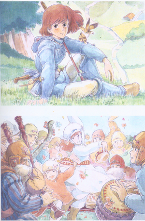 Original Illustrations from Nausicaä of the Valley of the Wind