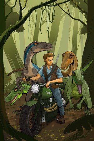Owen Grady and his Velociraptors