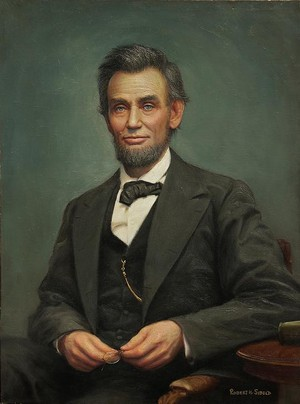 Painting of President Abraham लिंकन