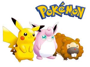 Pikachu, Wigglytuff and Bidoof
