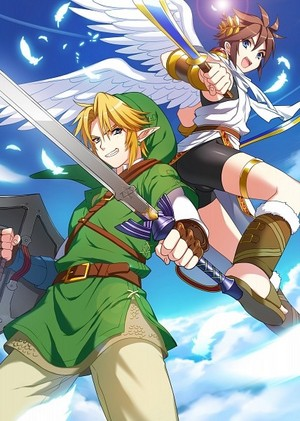 Pit from Kid Icarus & Link from The Legend of Zelda