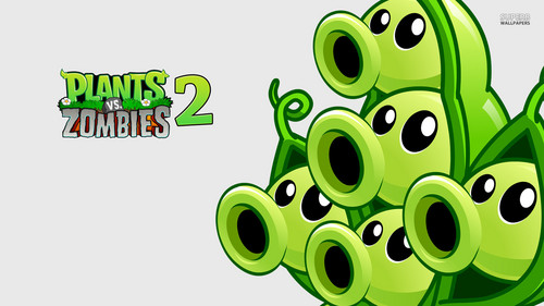 Permainan Video kertas dinding entitled Plants vs. Zombies 2