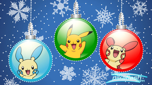 Pokémon wallpaper entitled Pokemon christmas baubles