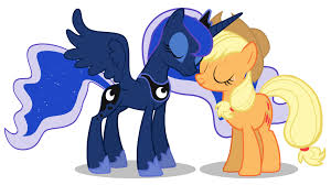 My Little Poney karatasi la kupamba ukuta probably with anime titled Princess Luna and apple Jack