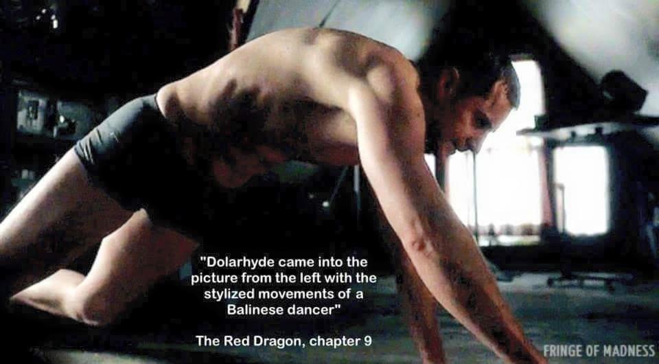 RA as Francis Dolarhyde aka 'The Red Dragon' in Hannibal