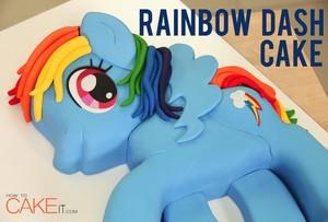 regenbogen DASH CAKE