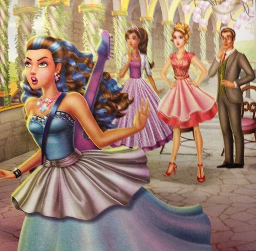 Barbie Movies wallpaper possibly with a dinner dress, a polonaise, and a gown titled RNR - Olivia vs. Erika