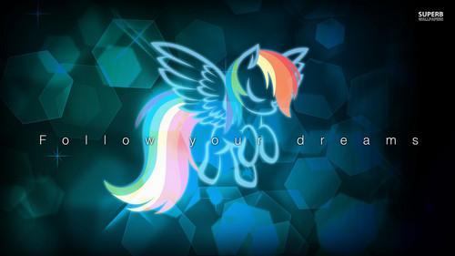 My Little pony Hintergrund entitled regenbogen Dash