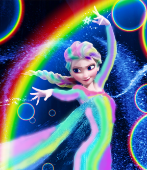 Rainbow Elsa my edit