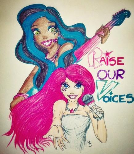 Barbie Rock N Royals Wallpaper: Barbie Movies Images Raise Our Voices (My Fanart) HD