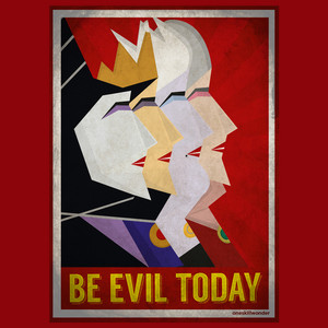 Retro Дисней Villains: Be Evil Today!