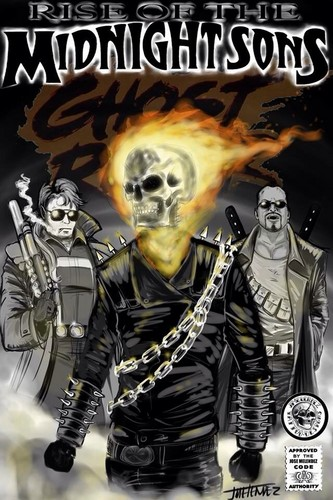 Ghost Rider wallpaper containing anime called Rise of the midnight sons tribute