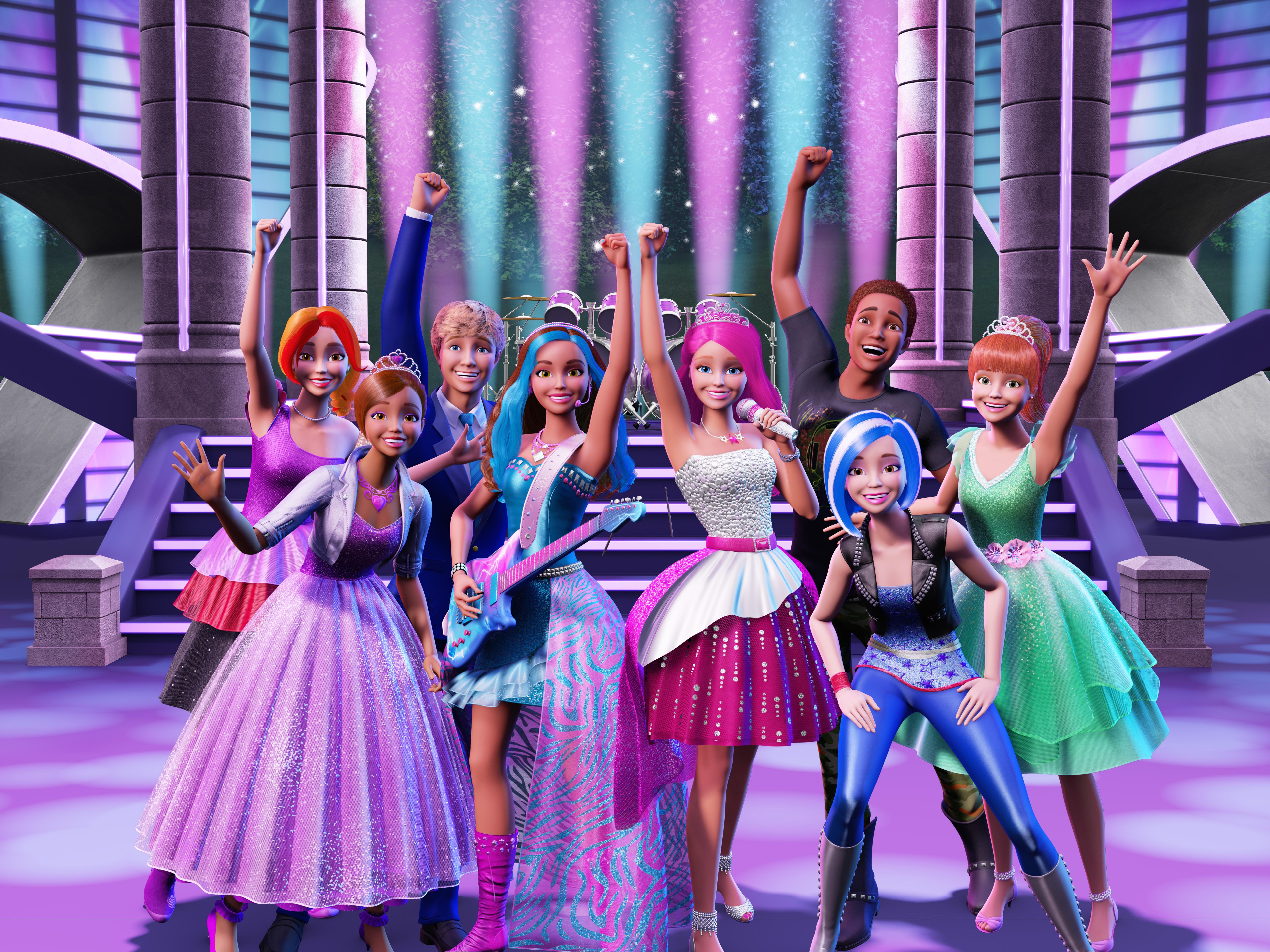 смотреть мультики барби академия принцесс