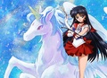 Sailor Mars on a Pegasus - sailor-mars-raye fan art