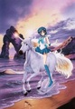 Sailor Mercury riding her Beautiful Unicorn - sailor-mercury fan art