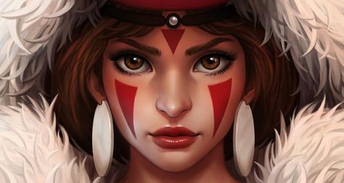Princess Mononoke wallpaper entitled San