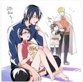 Sasuke and Sarada pictures... You can't say you don't love them!